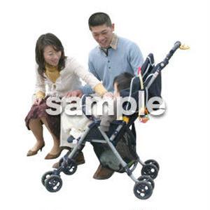 人物切抜き素材 医療・シニア車椅子編 D_216
