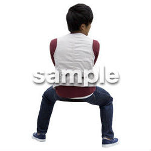 人物切抜き素材 座る人Ⅱ編 Q_591