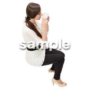 Cutout People 鳥瞰 座る女性  FF_469