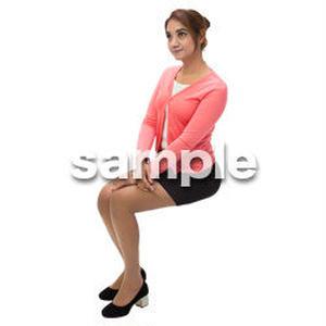 Cutout People 外国人-女性-座る BB_472