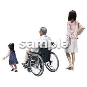 人物切抜き素材 シニア介護編 S_009