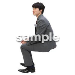 Cutout People 座る 男性 LL_103