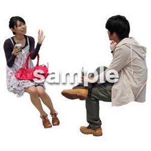 人物切抜き素材 レジャー・ショッピング編 L_408