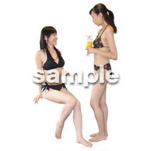 人物切抜き素材 夏服・フィットネス編 J_322