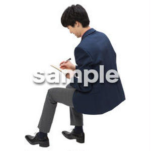 Cutout People 座る 男性 LL_109