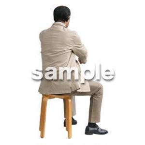 人物切抜き素材 医療・シニア車椅子編 D_236