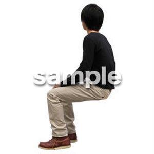 人物切抜き素材 座る人Ⅱ編 Q_570