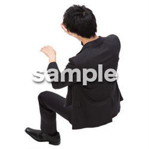 Cutout People 鳥瞰 座る男性  FF_404