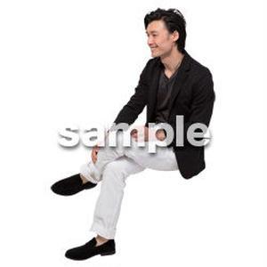 Cutout People 座る 男性 LL_133
