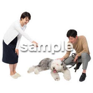 Cutout People 犬の散歩 II_489