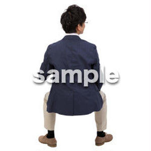 Cutout People 座る 男性 LL_100