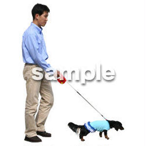 人物切抜き素材 リビング・散歩編 I_366