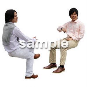 人物切抜き素材 座る人Ⅱ編 Q_063