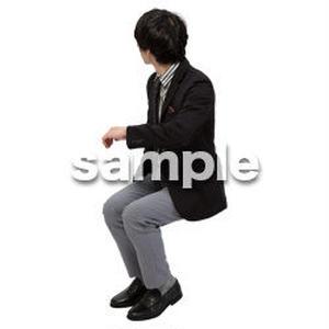 Cutout People 座る 男性 LL_143