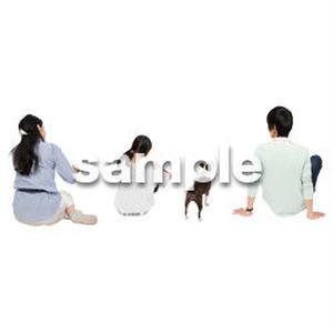 Cutout People 犬の散歩 II_500
