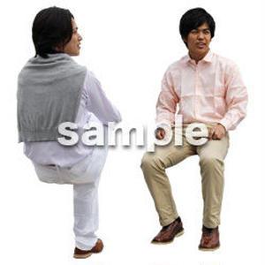 人物切抜き素材 座る人Ⅱ編 Q_062