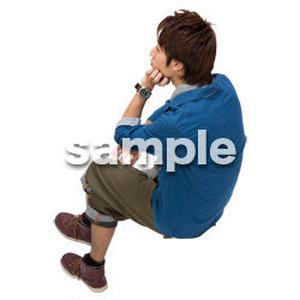 Cutout People 鳥瞰 座る男性  FF_429