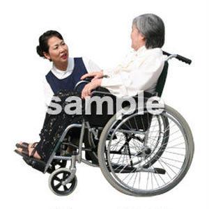 人物切抜き素材 医療・シニア車椅子編 D_300