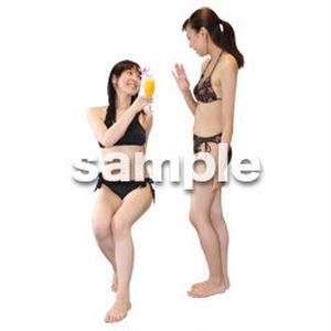 人物切抜き素材 夏服・フィットネス編 J_323