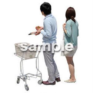 人物切抜き素材 ショッピングモール編 T_449