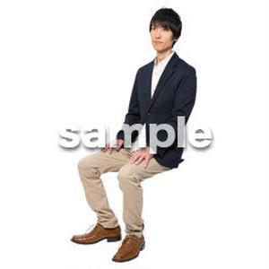 Cutout People 座る 男性 LL_117