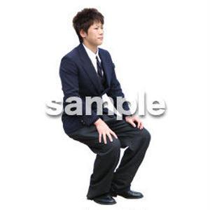 人物切抜き素材 座る人編 H_577