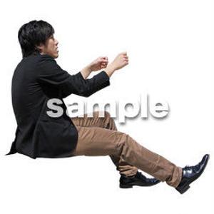 人物切抜き素材 座る人Ⅱ編 Q_600