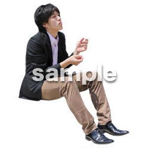 人物切抜き素材 座る人Ⅱ編 Q_598