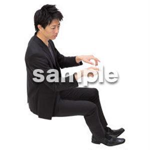 Cutout People 鳥瞰 座る男性  FF_403