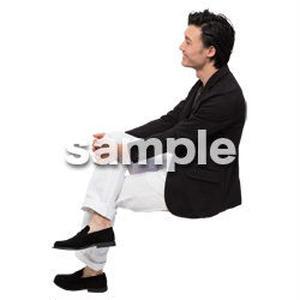 Cutout People 座る 男性 LL_134