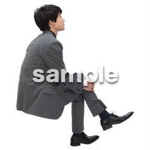 Cutout People 座る 男性 LL_104