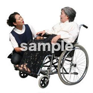 人物切抜き素材 医療・シニア車椅子編 D_299
