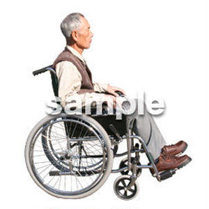 人物切抜き素材 医療・シニア車椅子編 D_269