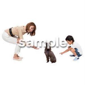 Cutout People 犬の散歩 II_483