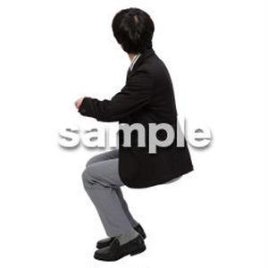 Cutout People 座る 男性 LL_145