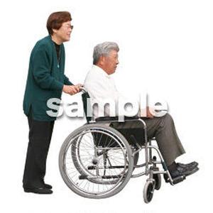 人物切抜き素材 医療・シニア車椅子編 D_275