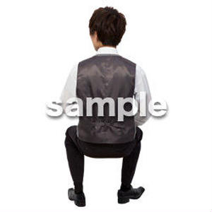 Cutout People 座る 男性 LL_095