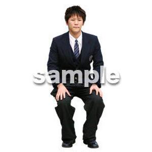 人物切抜き素材 座る人編 H_575