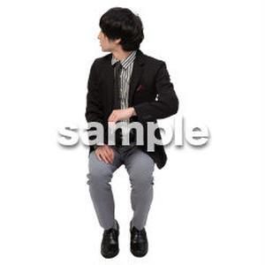 Cutout People 座る 男性 LL_141