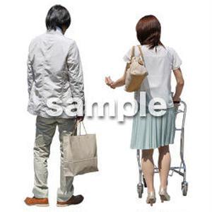 人物切抜き素材 ショッピングモール護編 T_455