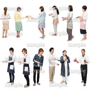 人物切抜きセット☆アットホーム 1_set136