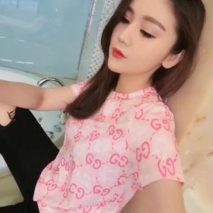 グッチTシャツ ピンク! カットソー シャツ シンプル ウィメンズファッション メンズファッション 人気美品 可愛い