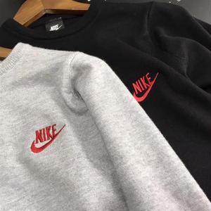 Nikeスウェット セーター ニット ナイキ 大人気 ピンク ブラック パーカー 男女 カジュアル 刺繍ロゴ