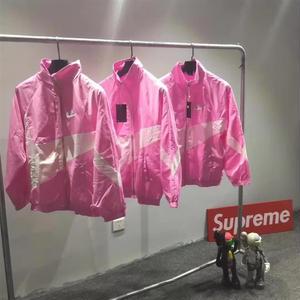Nikeジャケット ナイキ 大人気 ピンク ブラック パーカー 男女 カジュアル アウター デカロゴ