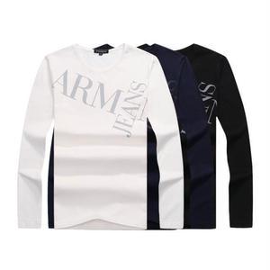 ARMANI JEANS 長袖スウェット シャツ 大人気 メンズ愛用 男女兼用 通勤適用 カジュアル 暖かい素材 2色選択
