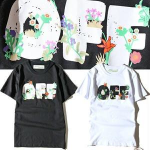 オフホワイト半袖 Off-WhiteTシャツ ユニセックス ウィメンズファッション メンズファッション カラフル 人気美品 上質 花柄