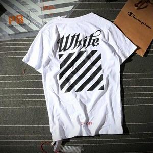 オフホワイトTシャツ Off-WhiteTシャツ 男女兼用 送料無料 カジュアル ユニセックス ストライプ