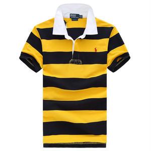 人気ポロシャツ 1色のみ ブラック×イエロー 新作 高品質