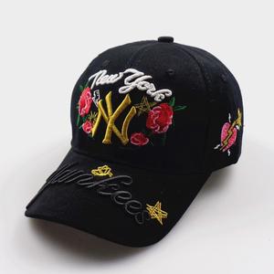 ニューエラ 可愛い帽子 人気キャップ 男女 刺繍 花柄