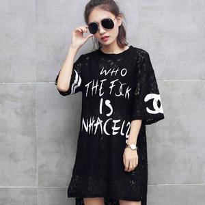 ミニワンピース シャネルTシャツ Tシャツ 可愛い半袖 ロングTシャツ
